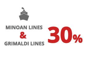 Ferry Patras – Ancona - Minoan Lines 2018 – Combination Grimaldi Lines-Minoan Lines